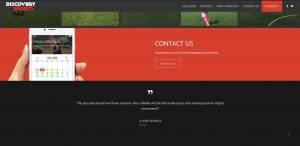 Web Design Portfolio - Discovery Sports