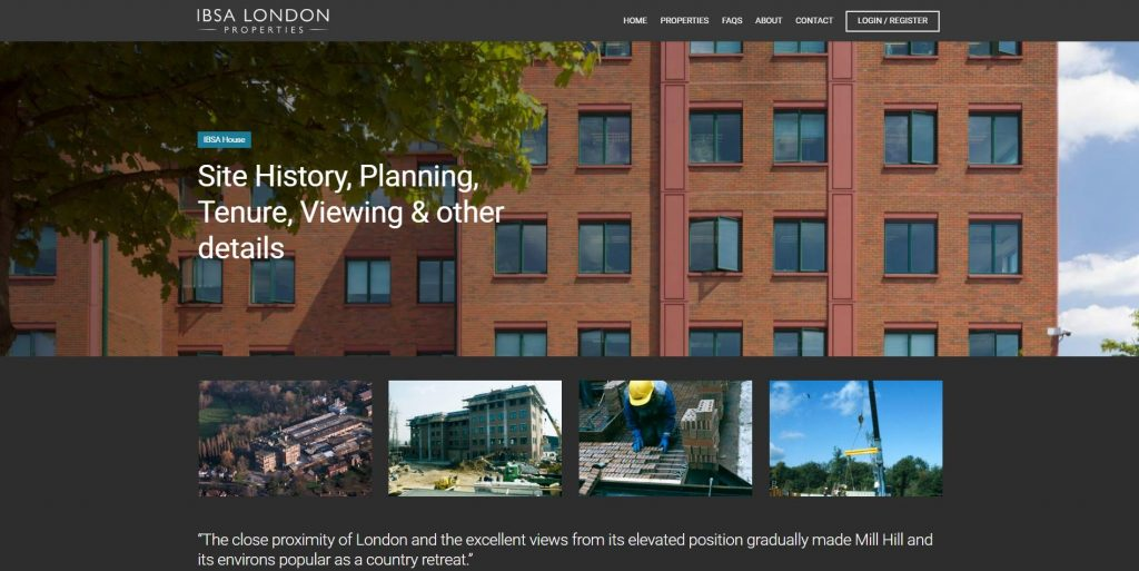Web design Portfolio - IBSA Property