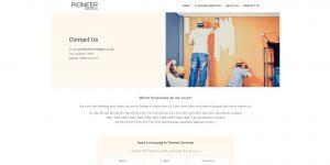 Web Design Portfolio - Pioneer Services