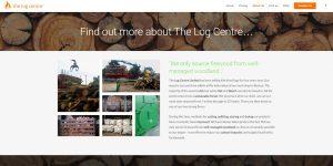 Web design Portfolio - The Log Centre ltd