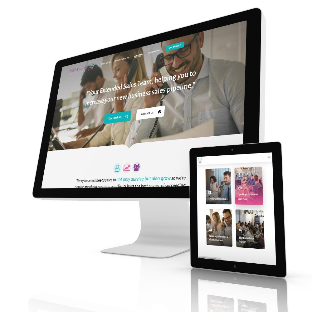 web design portfolio ipad and PC