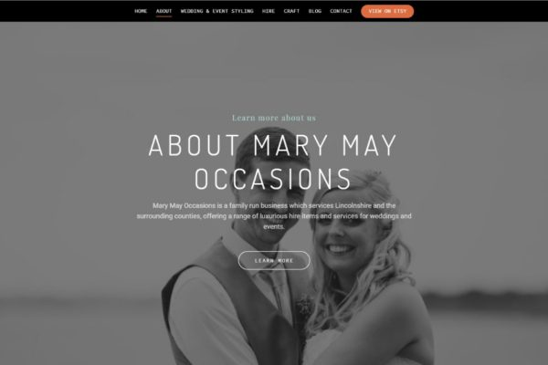 Web Design Portfolio - Mary May